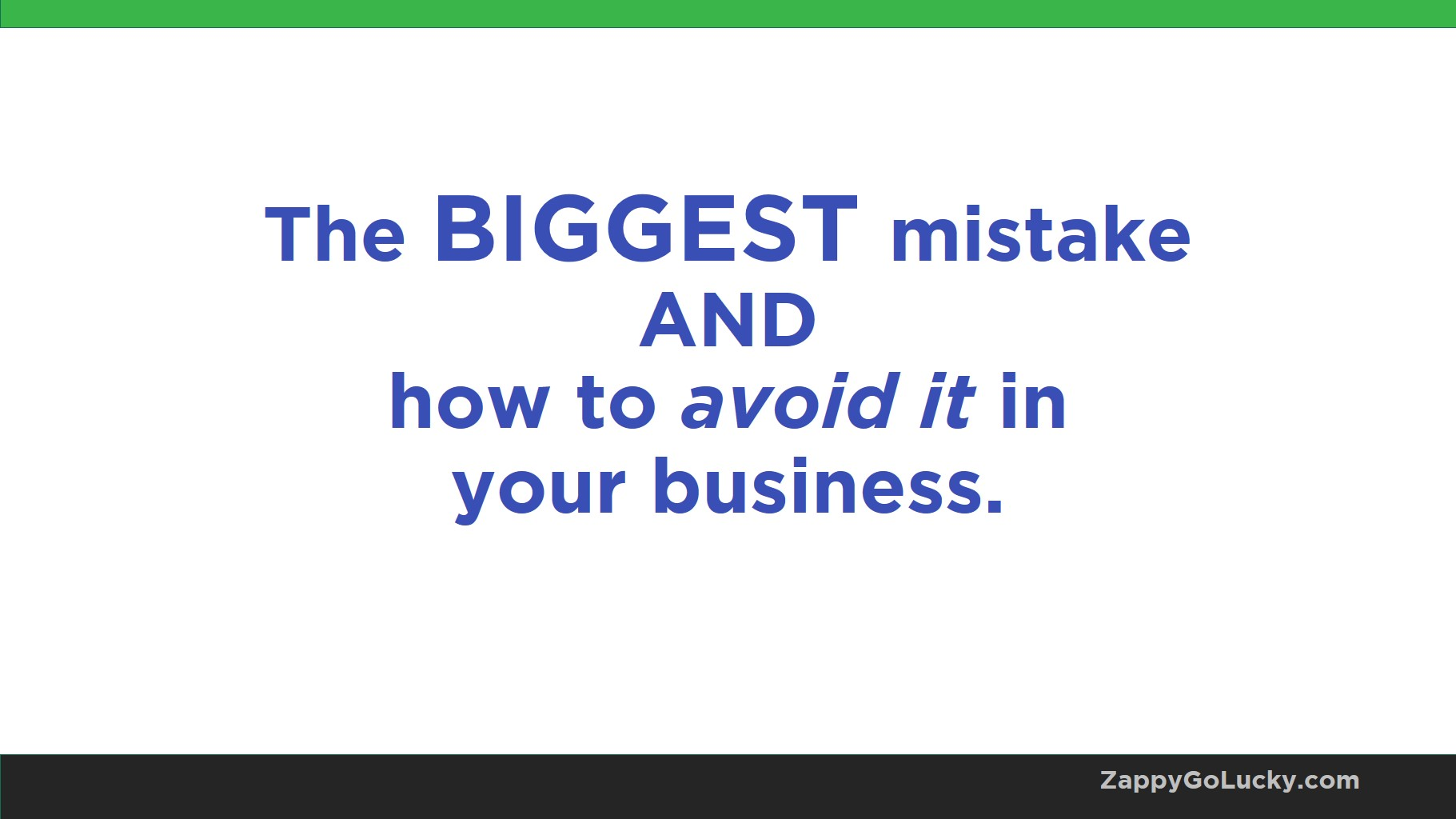 biggest website mistake